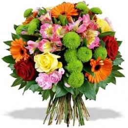 Букет з 6 сортів квітів