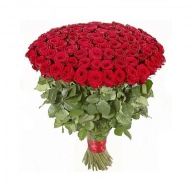 Букет 151 різнокольорова троянда 50 см з доставкою