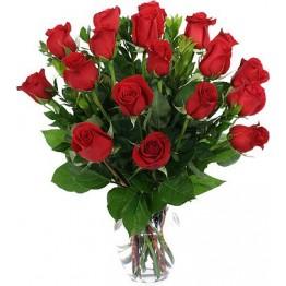 17 троянд 60-70 см