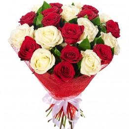 21 троянда 60-70 см