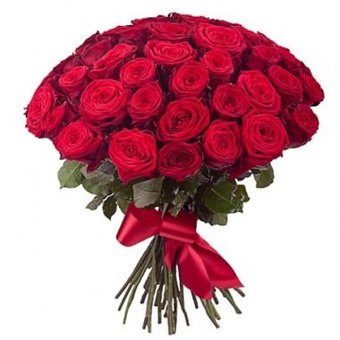 Букет 25 різнокольорових троянд 80 см з доставкою