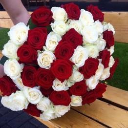 51 троянда 80 см