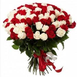 75 троянд 60-70 см