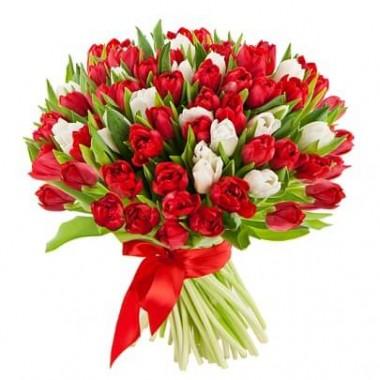 Букет з 55 тюльпанів